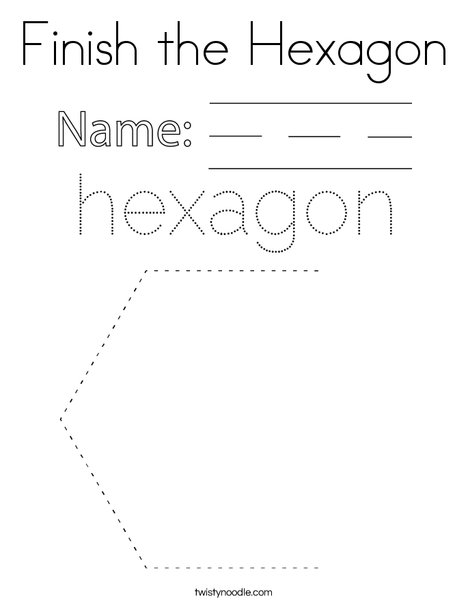Finish the Hexagon Coloring Page