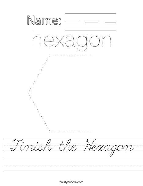Finish the Hexagon Worksheet
