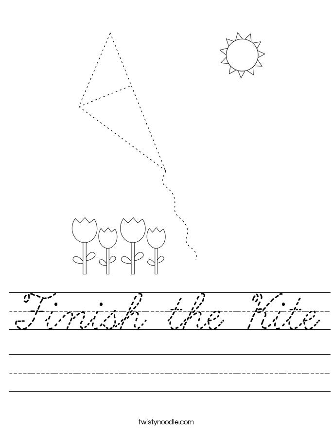 Finish the Kite Worksheet