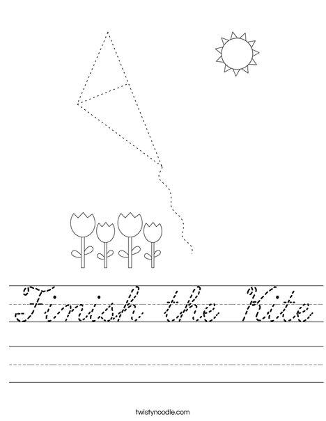 Finish the Kit Worksheet