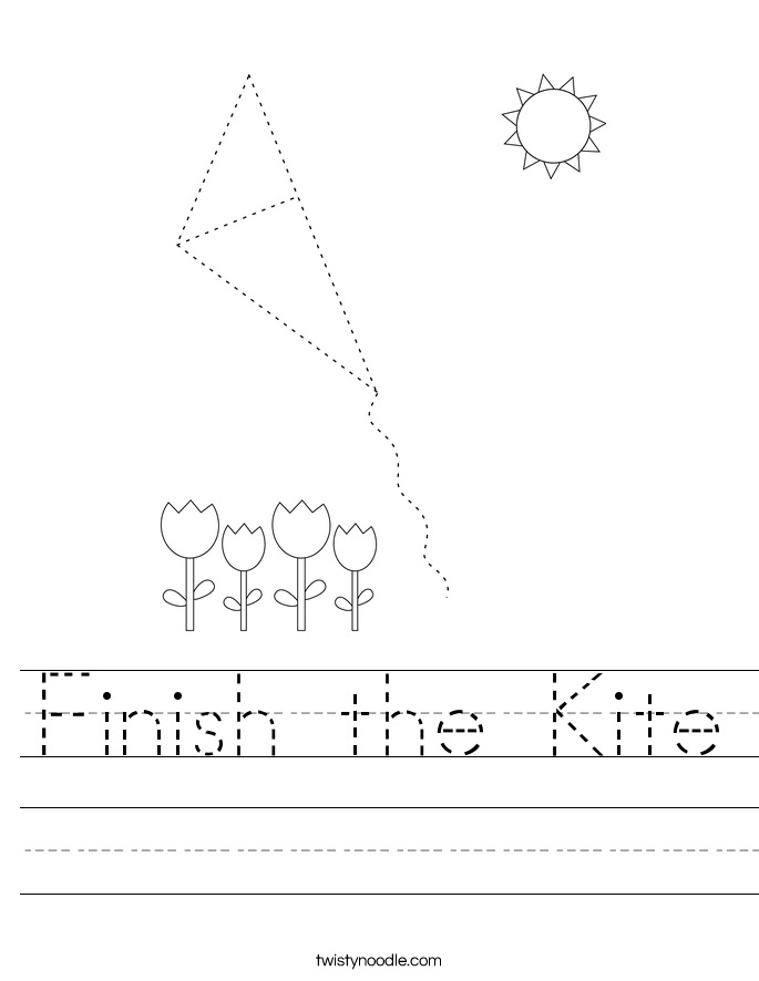 Finish the Kite Worksheet