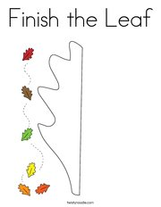 Finish the Leaf Coloring Page