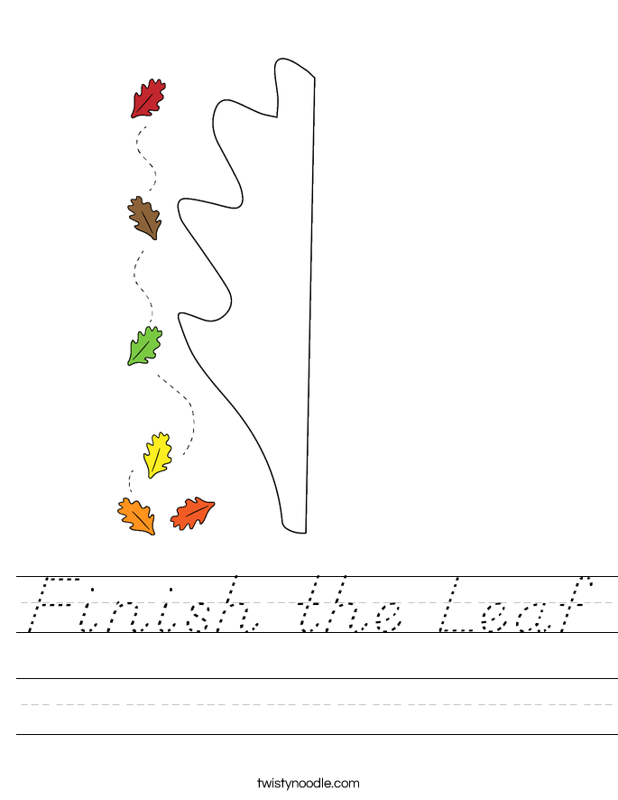 Finish the Leaf Worksheet