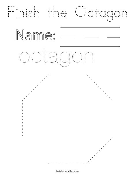 Finish the Octagon Coloring Page