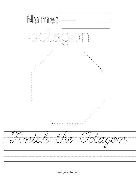 Finish the Octagon Worksheet
