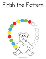 Finish the Pattern Coloring Page