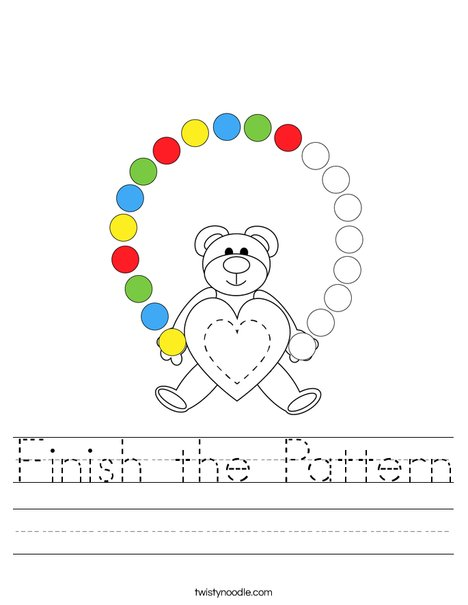 Finish the Pattern Worksheet