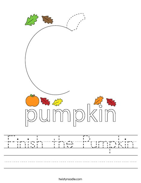 Finish the Pumpkin Worksheet