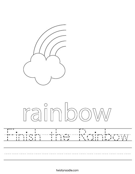 Finish the Rainbow Worksheet