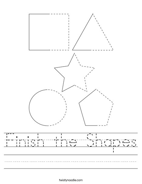 Finish the Shapes Worksheet