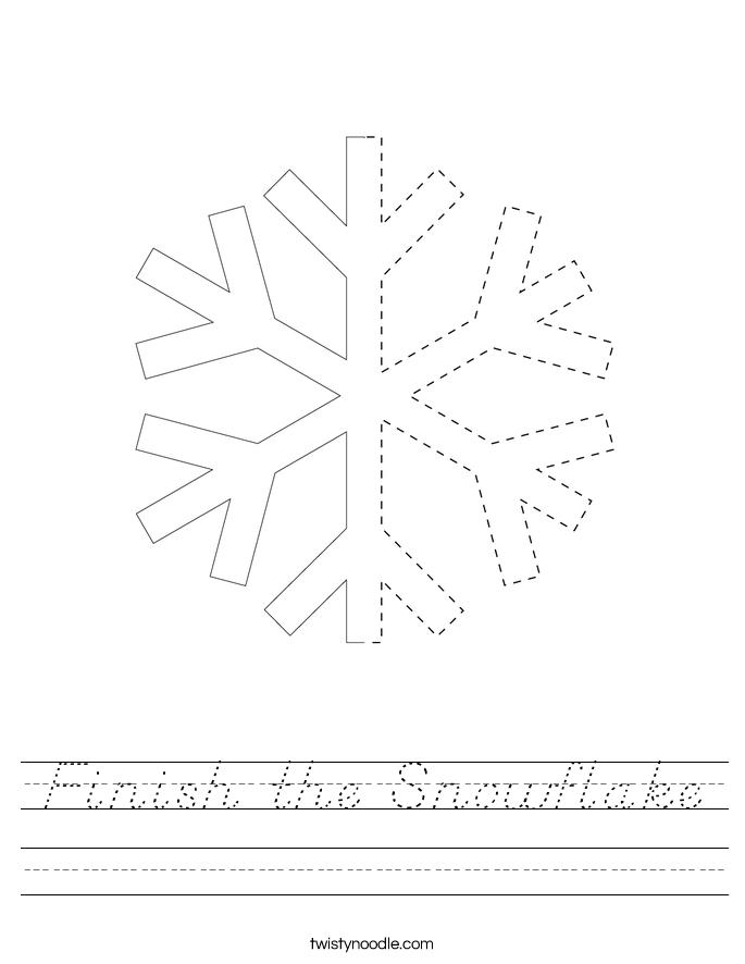 Finish the Snowflake Worksheet