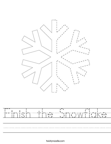 Finish the Snowflake Worksheet