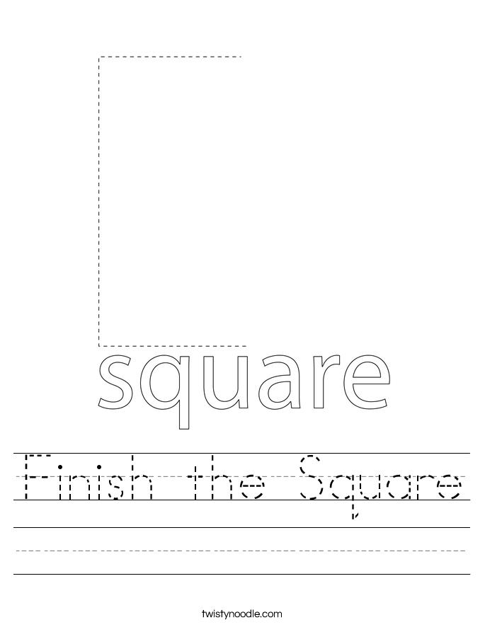 Finish the Square Worksheet