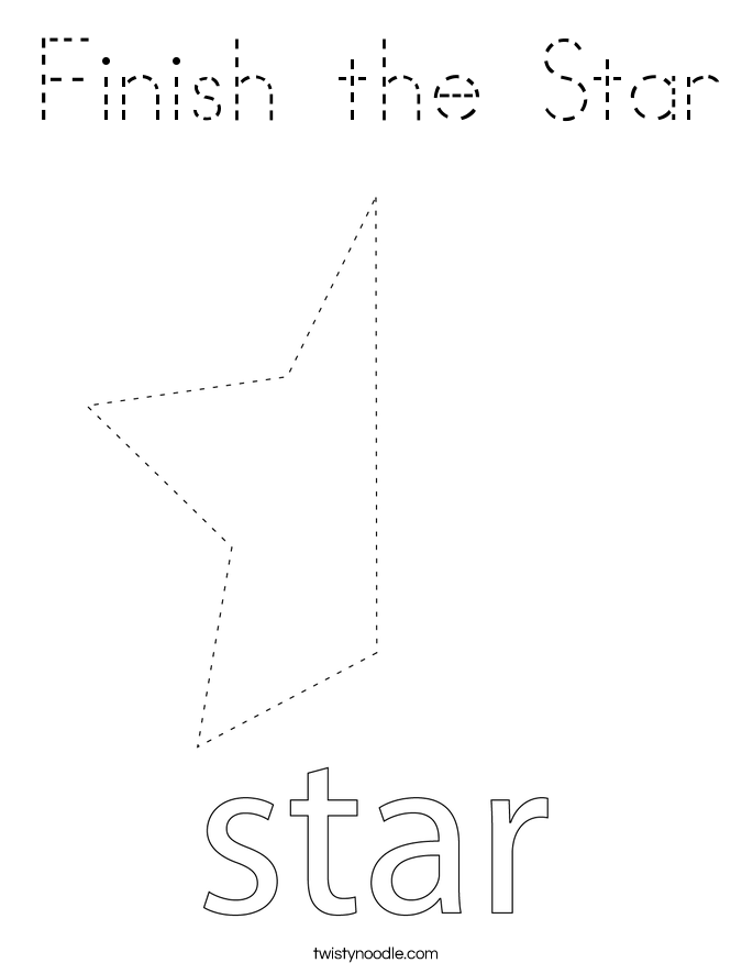Finish the Star Coloring Page