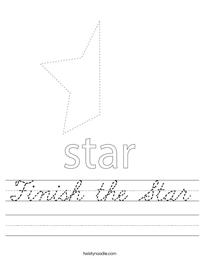 Finish the Star Worksheet