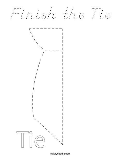 Finish the Tie Coloring Page