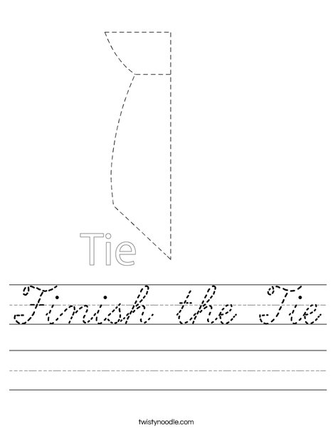Finish the Tie Worksheet