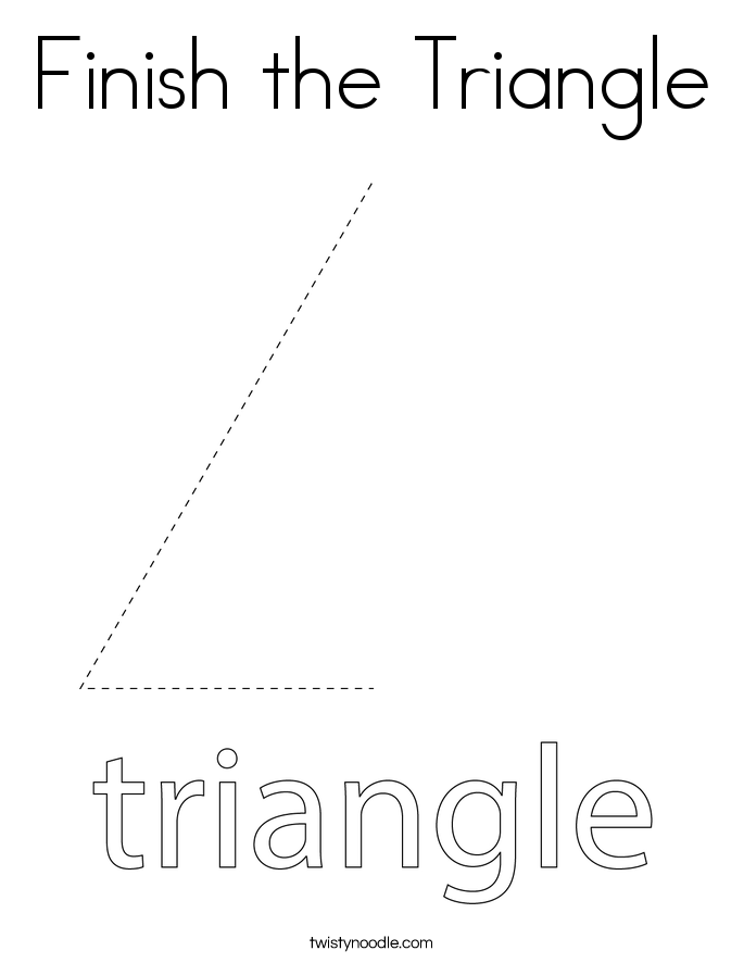 Finish the Triangle Coloring Page