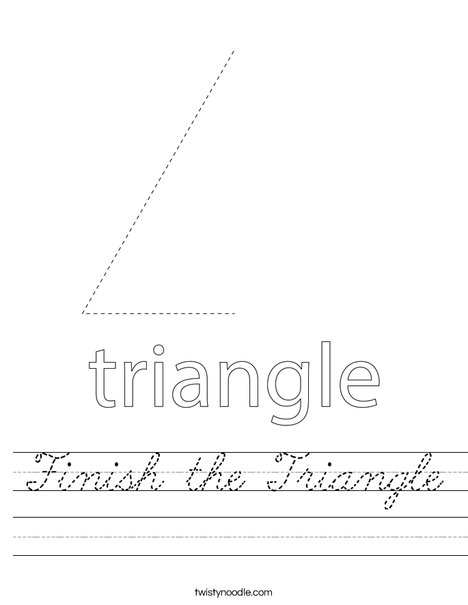 Finish the Triangle Worksheet