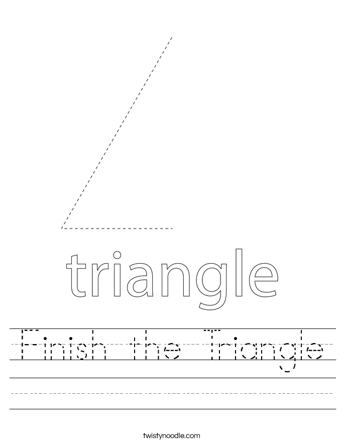 Finish the Triangle Worksheet