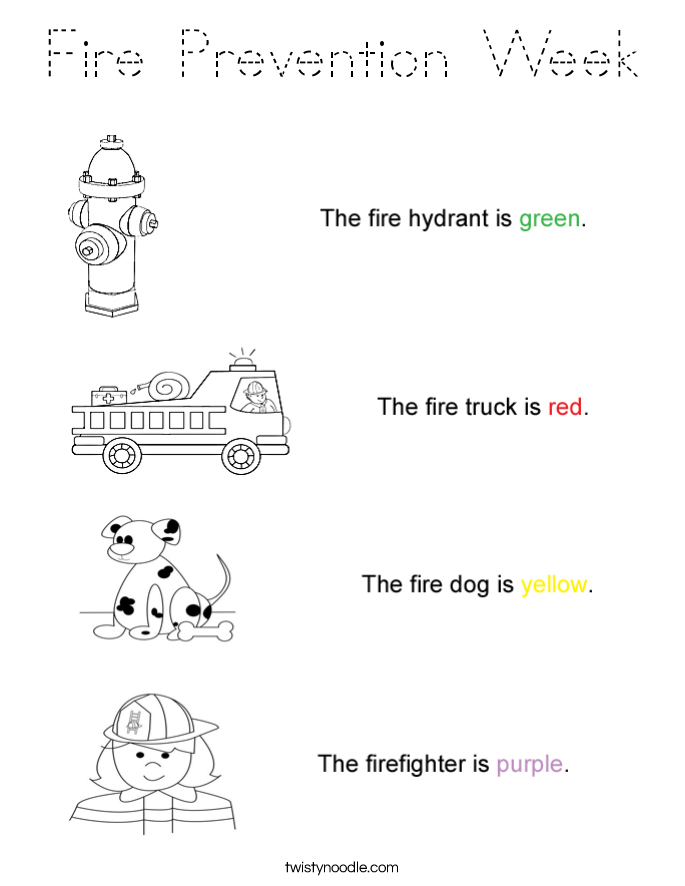 Fire Prevention Week Coloring Page