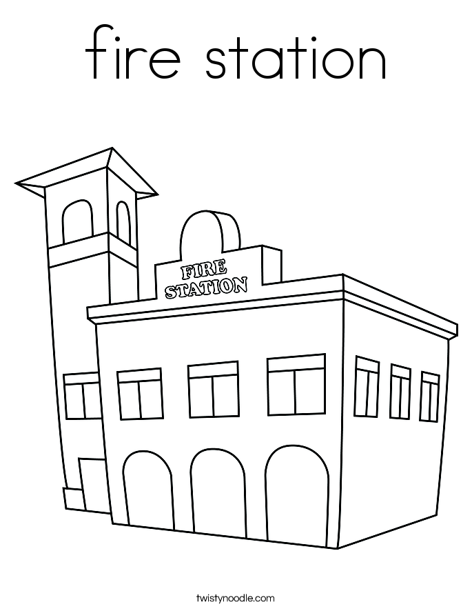 fire station coloring page coloring book for building fire station coloring pages