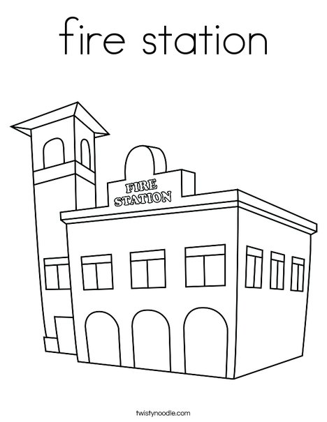police station building coloring pages - photo#13
