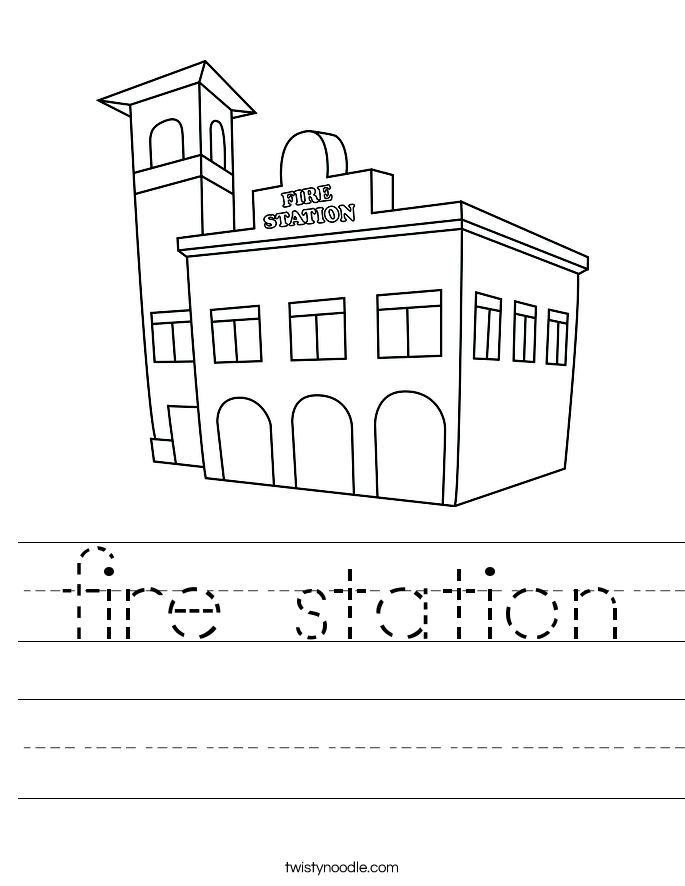 fire station Worksheet Twisty Noodle