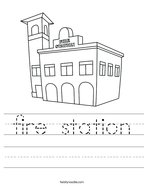fire station Handwriting Sheet