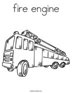 fire engine Coloring Page