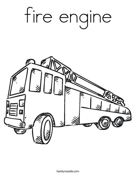 fire engine Coloring Page - Twisty Noodle