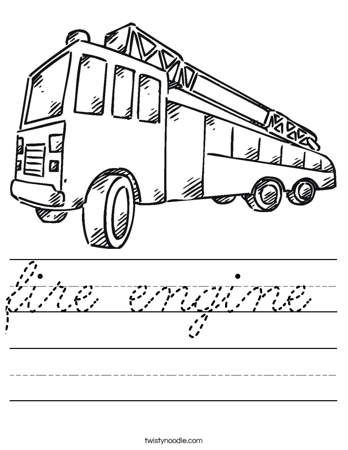 fire engine Worksheet