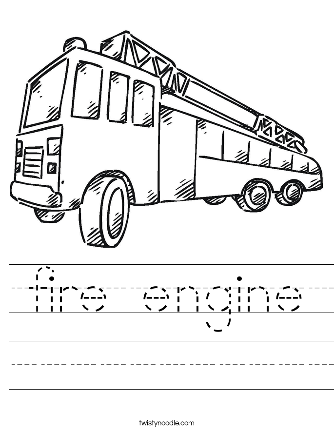 fire engine Worksheet