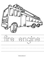 fire engine Handwriting Sheet