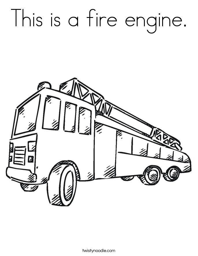This is a fire engine. Coloring Page