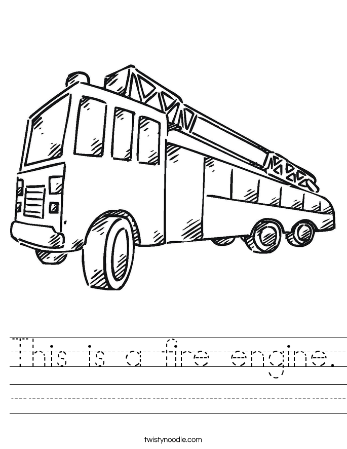 This is a fire engine. Worksheet