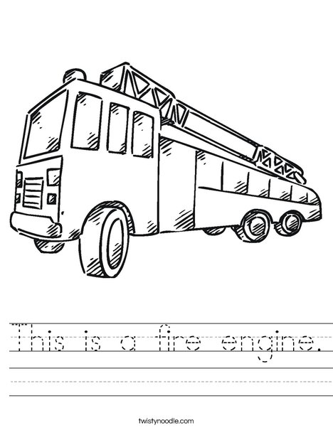 Fire Truck Worksheet
