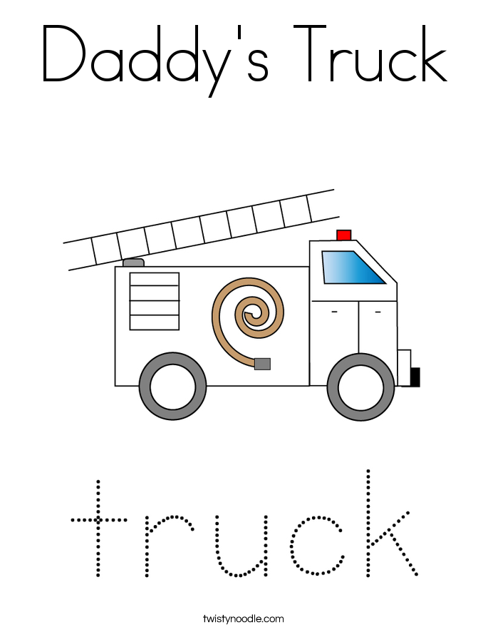 Daddy's Truck Coloring Page