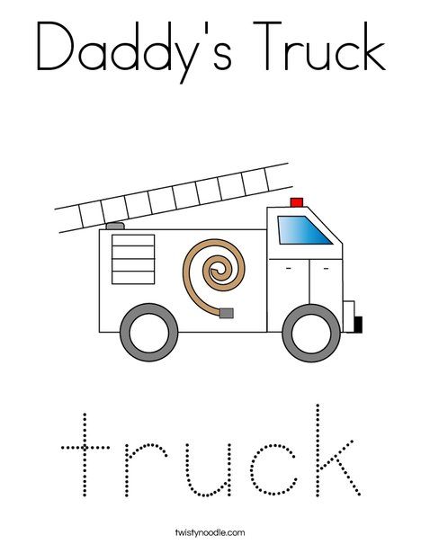 Fire Truck with Ladder Coloring Page