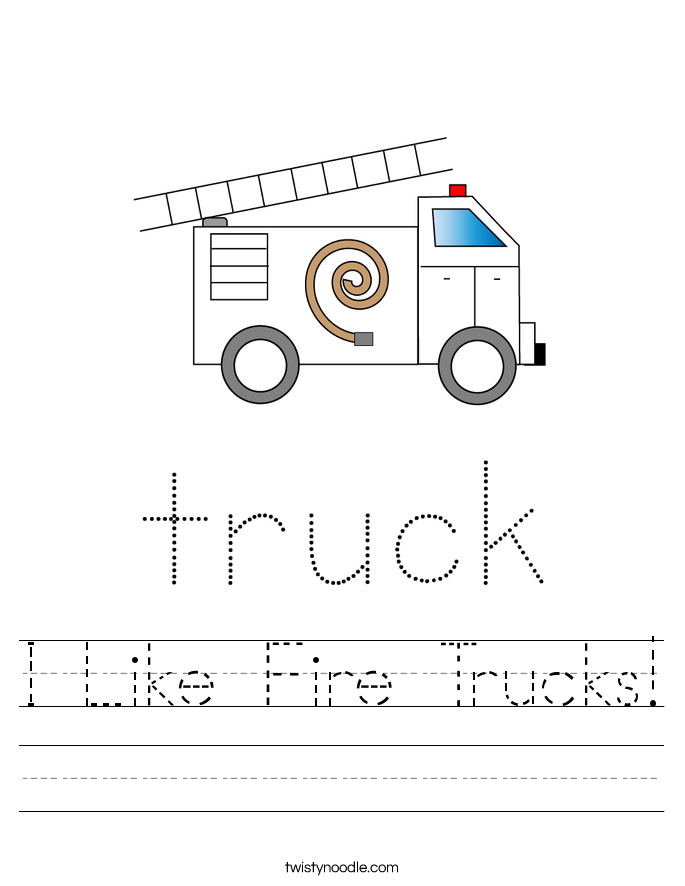 I Like Fire Trucks! Worksheet