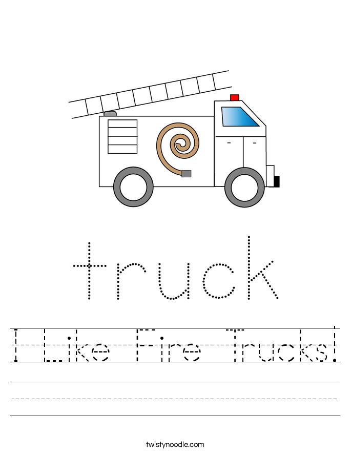 I Like Fire Trucks! Worksheet