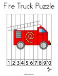 Fire Truck Puzzle Coloring Page