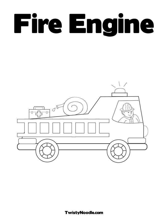 free coloring pages fire engines - photo#16