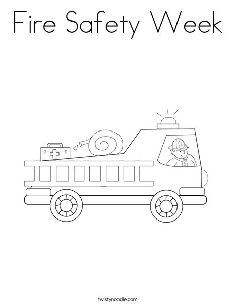 Fire Safety Week Coloring Page - Twisty Noodle