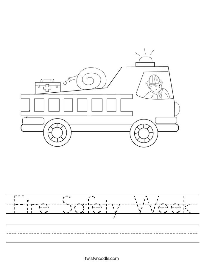 Fire Safety Week Worksheet