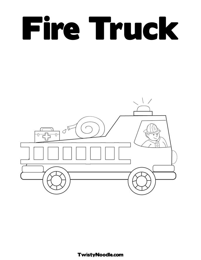 coloring pages of fire trucks - firetruck coloring picture