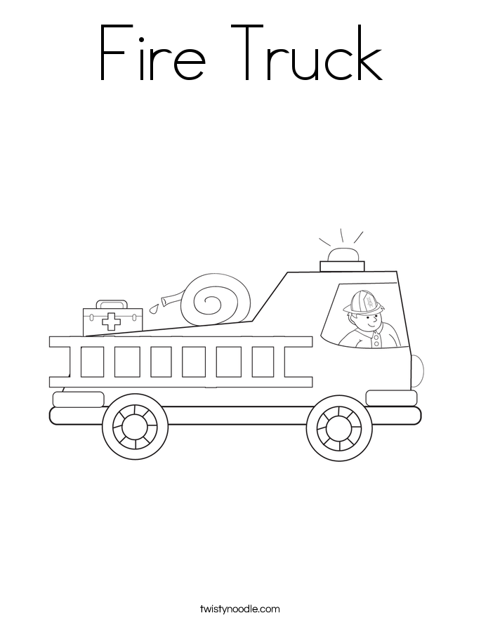 fire truck coloring book pages - photo#15