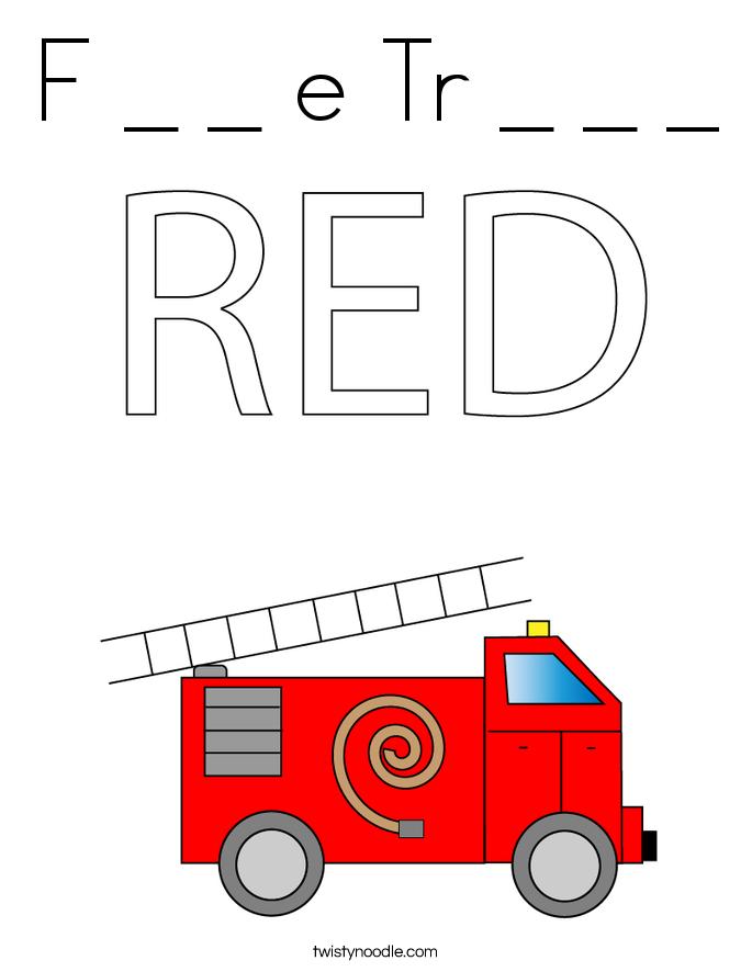 F _ _ e Tr _ _ _ Coloring Page