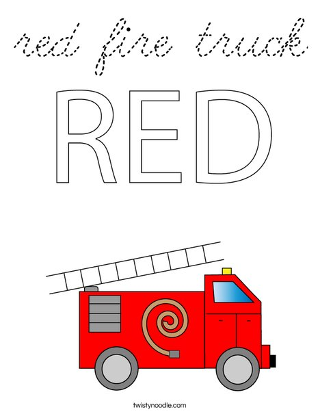 Old Fashioned Fire Truck Coloring Page