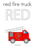 RED Fire truckColoring Page